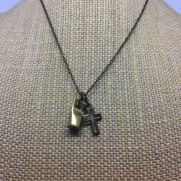 Poseidon's Treasure Jewelry - Bullet and Cross Charm Necklace Bulletproof Faith